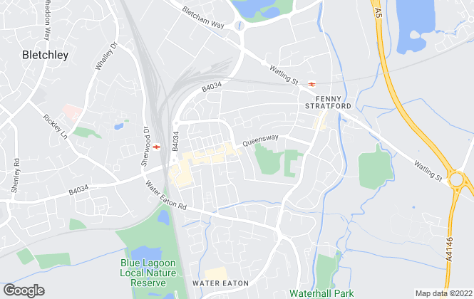 Map for Carters Estate Agents, Bletchley