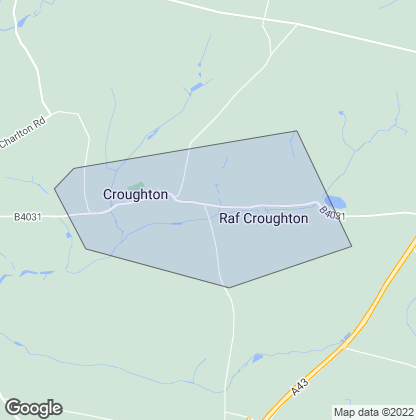 Map of property in Croughton