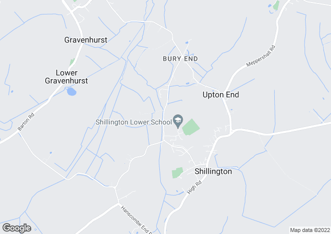 Map for Bury Road, Shillington