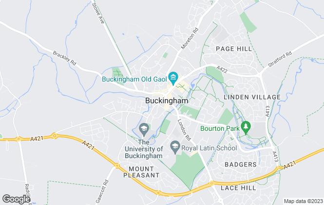 Map for Open Doors, Buckingham