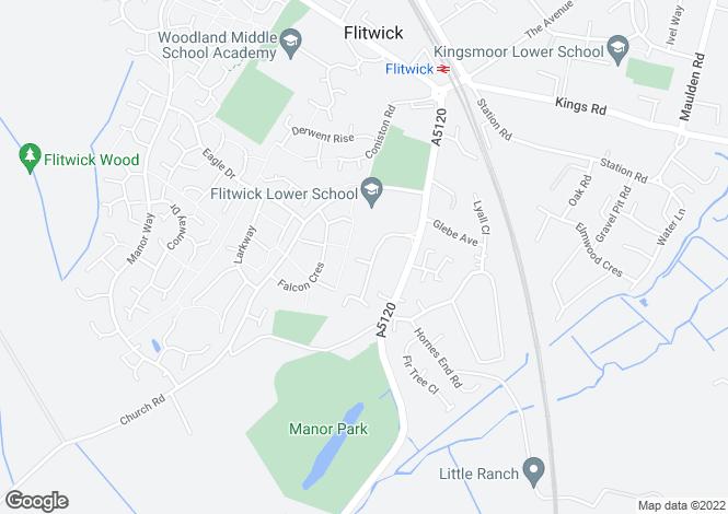 Map for Flitwick
