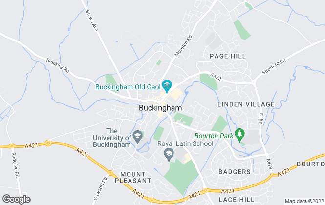 Map for Apple Homes Limited, Buckingham
