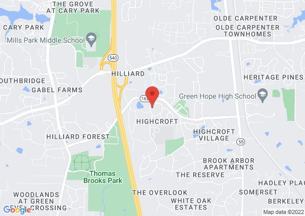 Map of 5115 Highcroft Drive, Cary, NC 27519, USA