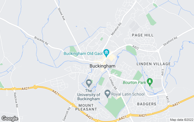 Map for Connells, Buckingham
