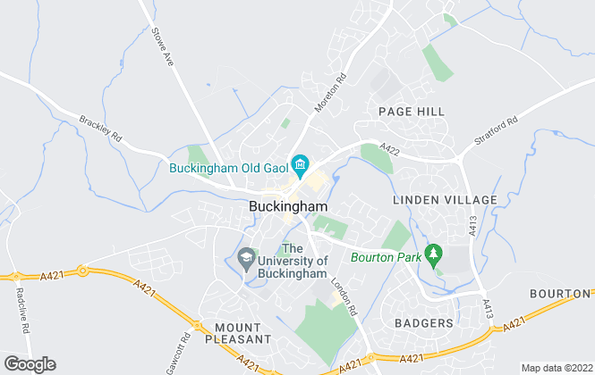 Map for Precise Locations, Buckingham
