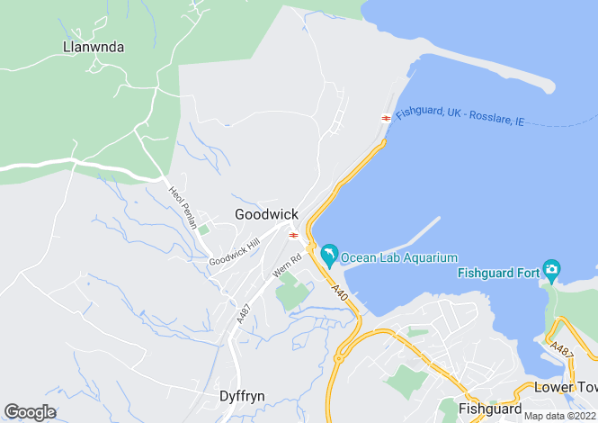 Map for Stanley House, Quay Road, Goodwick, Fishguard