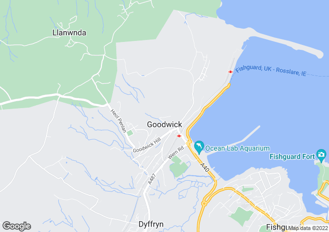 Map for Pantyrychen, GOODWICK, Pembrokeshire