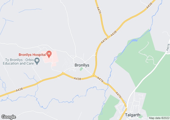 Map for Adjacent To Bronllys Court, Bronllys, Brecon, Powys