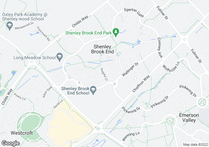 Map for Angora Close, Shenley Brook End, Milton Keynes, Buckinghamshire