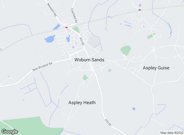 Map for Brown & Merry, Woburn Sands