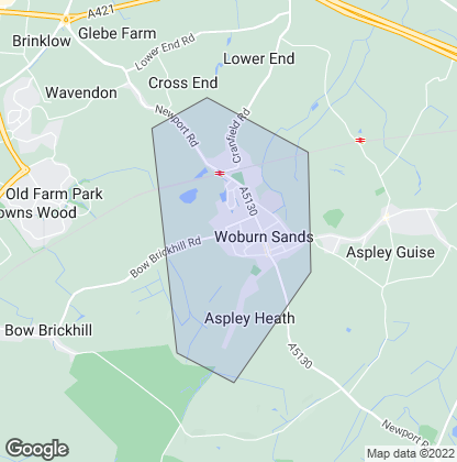Map of property in Woburn Sands