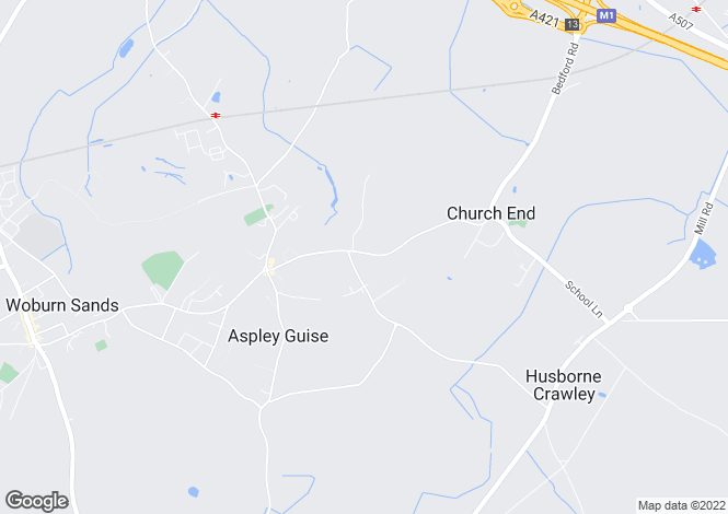 Map for Bedford Road, Aspley Guise, Bedfordshire, MK17