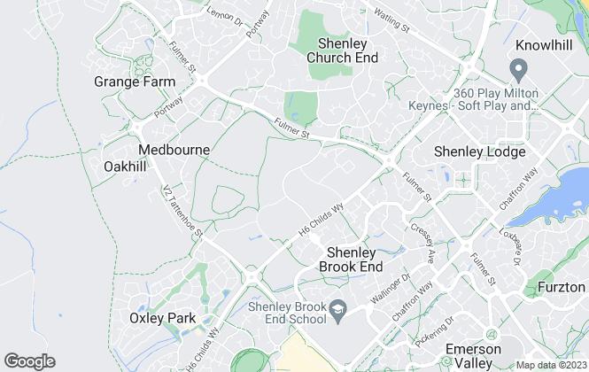 Map for Kirkby Diamond, Milton Keynes