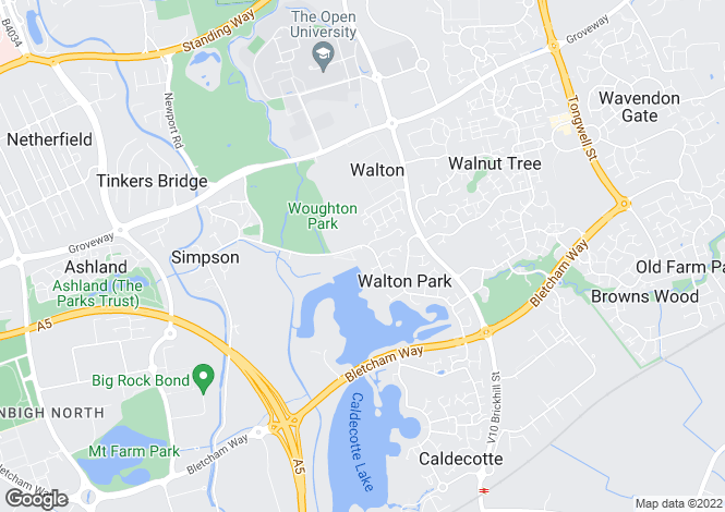Map for Walton Park, Milton Keynes