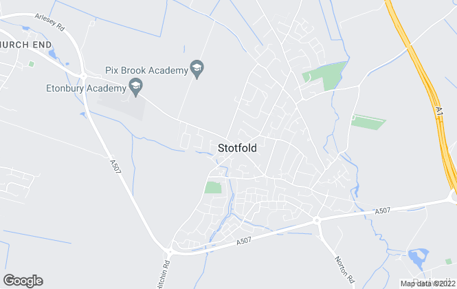 Map for Country Properties, Stotfold