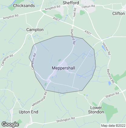 Map of property in Meppershall