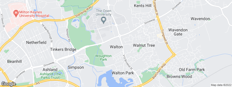 Map for Walton development by McCann Homes Ltd