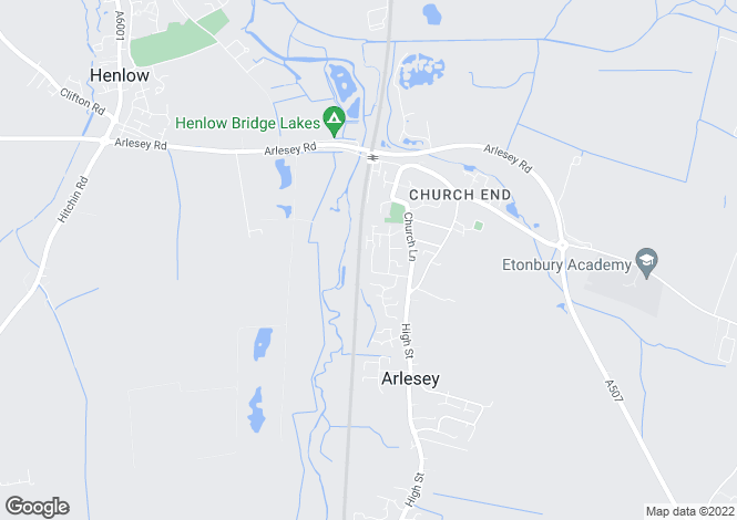 Map for Stotfold Road, Arlesey