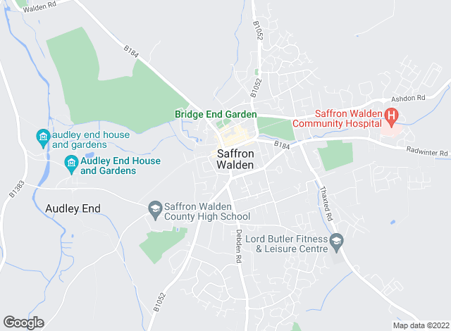 Map for Intercounty Lettings, Saffron Walden