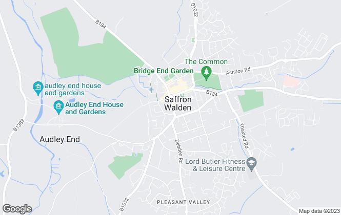 Map for Intercounty, Saffron Walden