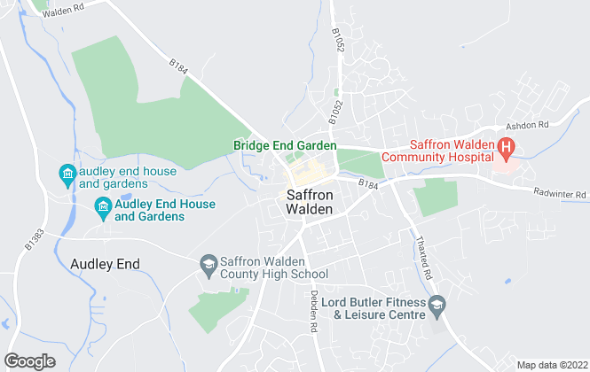 Map for Tucker Gardner Lettings, Saffron Walden
