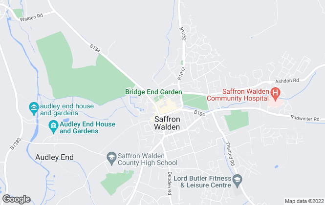 Map for Mullucks Wells, Saffron Walden