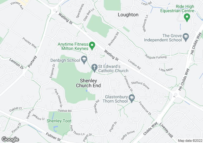 Map for Burchard Crescent, Shenley Church End, Milton Keynes