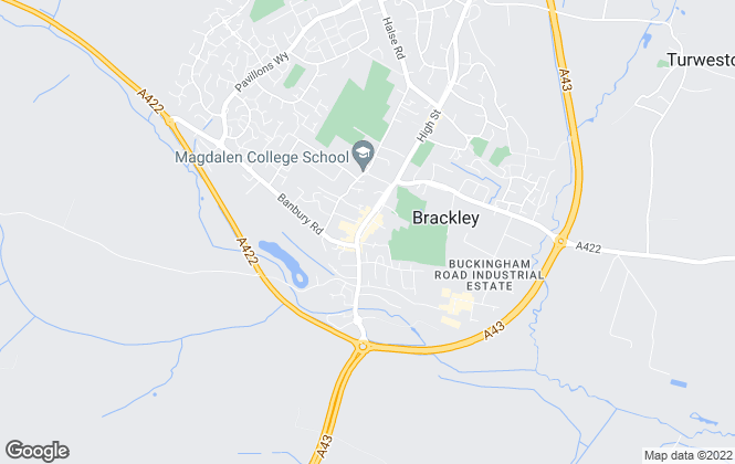 Map for Boughtons Family Run Estate Agents, Brackley
