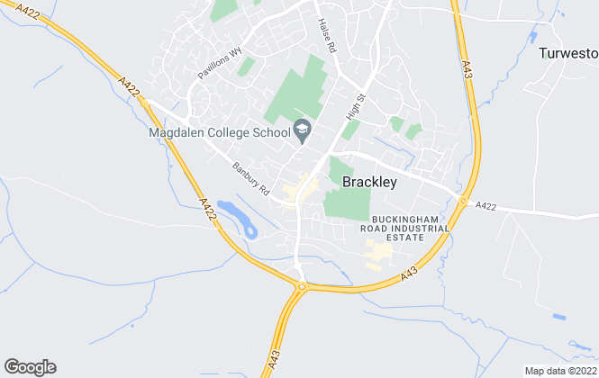 Map for Davies & Partners, Brackley
