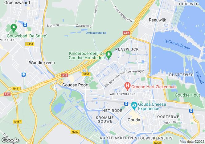 Map for Zuid-Holland, Gouda
