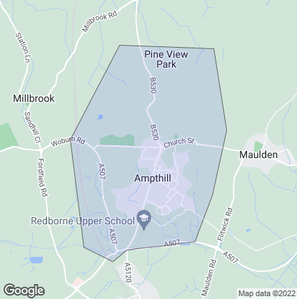 Map of property in Ampthill