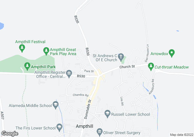Map for Oxlet House, Ampthill