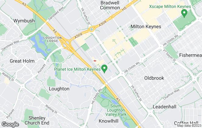 Map for Bespoke Estates, Milton Keynes