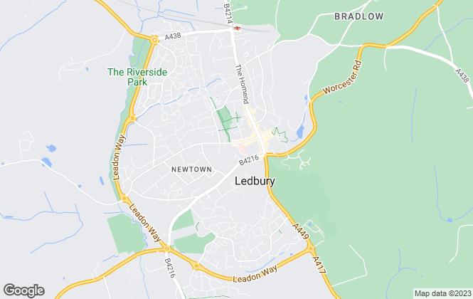 Map for Pughs, Ledbury