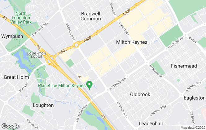 Map for Knights MK, Milton Keynes