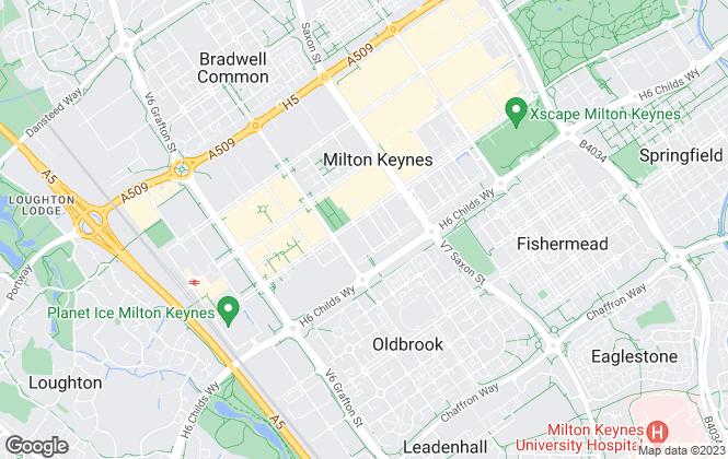 Map for Cauldwell Property Services, Milton Keynes