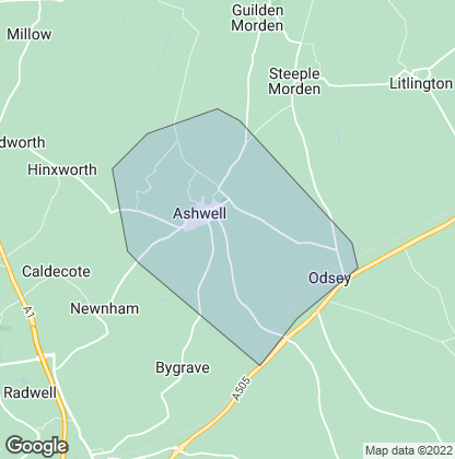 Map of property in Ashwell