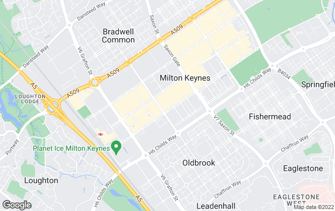 Map for Thomas Connolly Estate Agents, Milton Keynes