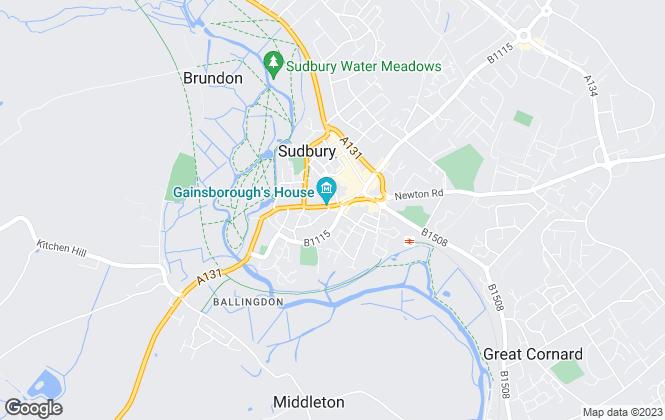 Map for Sworders, Sudbury