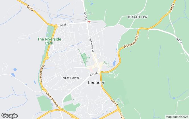 Map for Stooke Hill & Walshe, Ledbury, Herefordshire