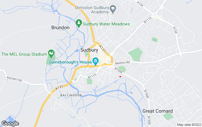 Map for Palmer & Partners, Sudbury - Lettings