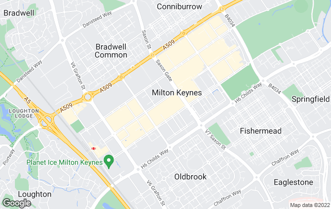 Map for Taylors Estate Agents, Milton Keynes