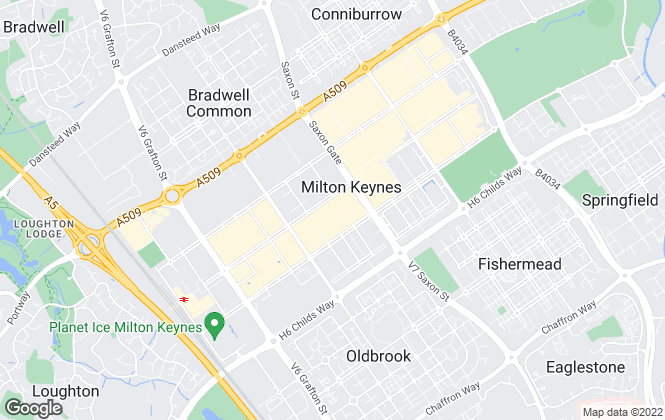 Map for King Estate Agents, Milton Keynes