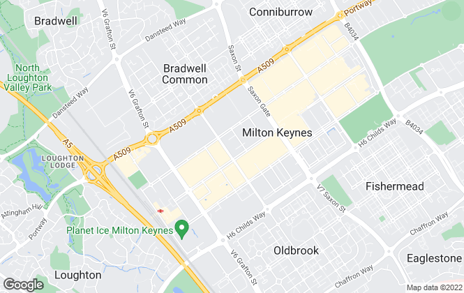 Map for Inspired Sales and Lettings, Milton Keynes