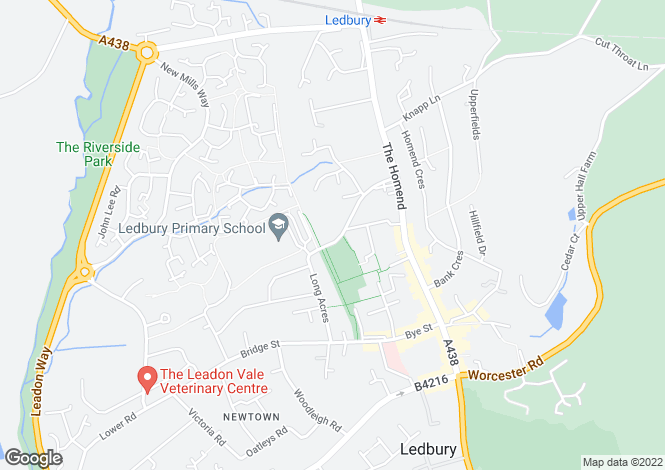 Map for Leadon Bank, Ledbury, Herefordshire