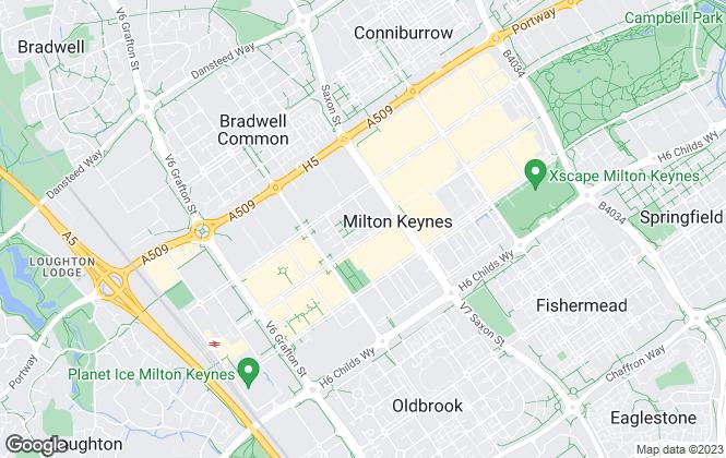 Map for Shortletting.com, Milton Keynes