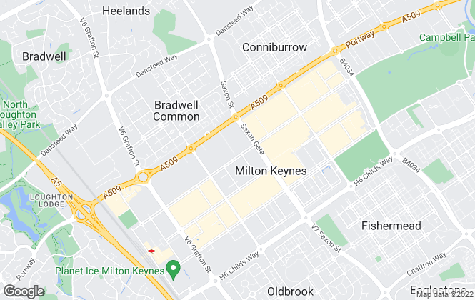 Map for Milton & Ward Ltd, Milton Keynes - Lettings