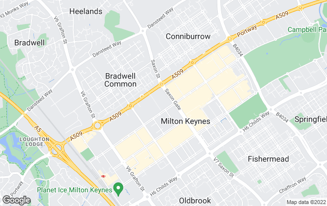 Map for Martin & Co, Milton Keynes - Lettings & Sales
