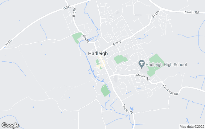 Map for Bychoice, Hadleigh