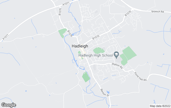 Map for Abbotts, Hadleigh